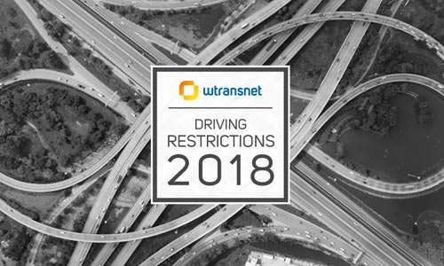 Thanks to our complete guide you will not miss a driving ban in Europe in 2018