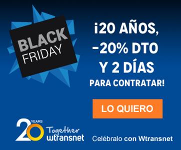 Wtransnet ofrece un descuento de aniversario con motivo del Black Friday