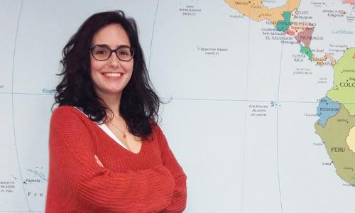 Georgina Andaluz, operadora de tráfico