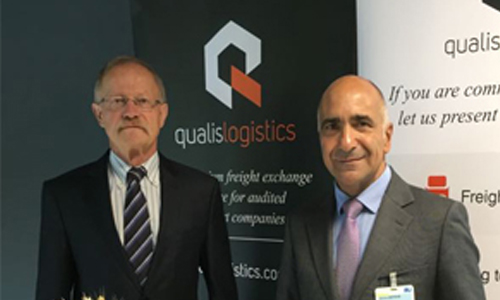 Werner Schneider, product manager di Qualis Logistics e Jaume Esteve, CEO di Wtransnet
