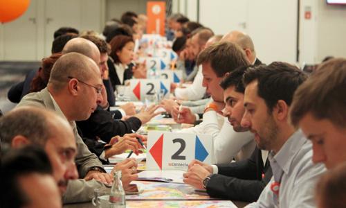 Un tavolo durante i turni di speed networking: un formato vincente che viene replicato in tutte le edizioni di WConnecta.